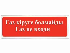 СФЕРА (12/24В) «ГАЗ КІРУГЕ БОЛМАЙДЫ ГАЗ НЕ ВХОДИ»