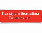 """СФЕРА (УЛИЧНОЕ ИСПОЛНЕНИЕ) 12/24В """"ГАЗ КІРУГЕ БОЛМАЙДЫ ГАЗ НЕ ВХОДИ"""""""