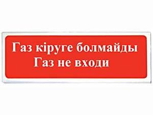 СФЕРА (УЛИЧНОЕ ИСПОЛНЕНИЕ) 12/24В «ГАЗ КІРУГЕ БОЛМАЙДЫ ГАЗ НЕ ВХОДИ»