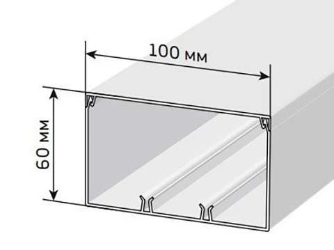 Кабельный канал 100х60 мм