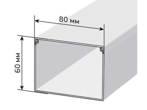 Кабельный канал 80х60 мм