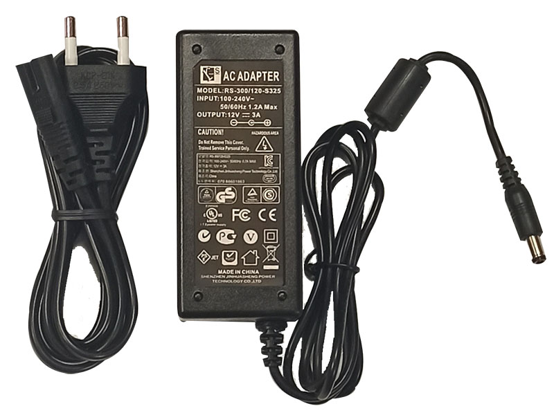 Adaptor 12V 3A with cord/cable